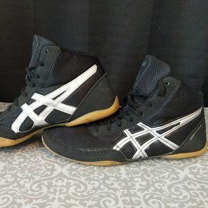 Asics Matflex Wrestling Shoes Size 8 Black/White